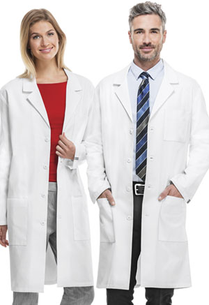 "Cherokee Cherokee Whites Unisex 40"" Unisex Lab Coat White"