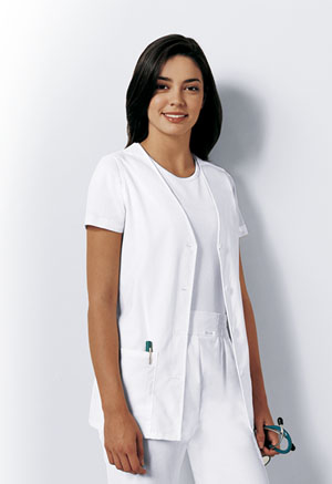 Professional Whites Button Front Vest (1602-WHT) (1602-WHT)