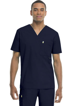 Code Happy Bliss Men's V-Neck Top in Navy (16600AB - NVCH)