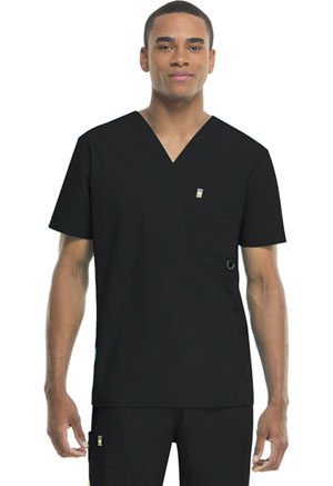 Code Happy Bliss Men's V-Neck Top in Black (16600A - BXCH)
