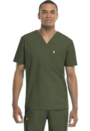Code Happy Bliss Men's Men's V-Neck Top Green