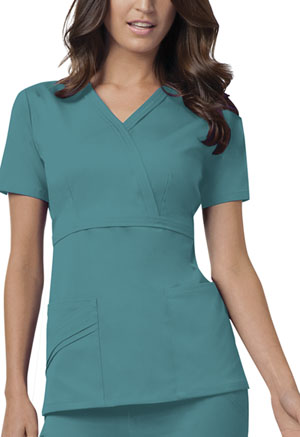 Cherokee Mock Wrap Top Teal (1841-TEAV)