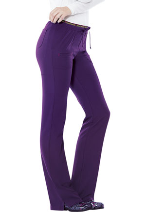 """Heart Breaker"" Low Rise Drawstring Pant in Eggplant"