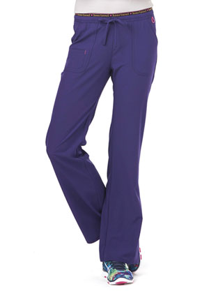 "HeartSoul Break on Through by HeartSoul Women's ""Heart Breaker"" Low Rise Drawstring Pant Purple"