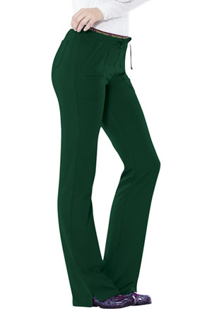 "HeartSoul Break on Through by HeartSoul Women's ""Heart Breaker"" Low Rise Drawstring Pant Green"