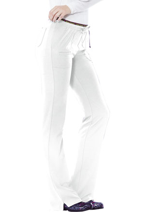 "HeartSoul Break on Through Women's ""Heart Breaker"" Low Rise Drawstring Pant White"