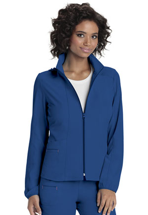 HeartSoul Zip Front Warm-Up Jacket Royal (20310-ROYH)
