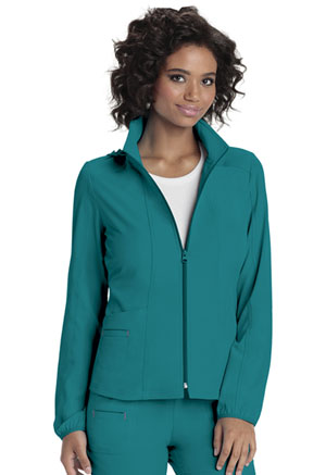 HeartSoul Break on Through Women's Zip Front Warm-Up Jacket Blue