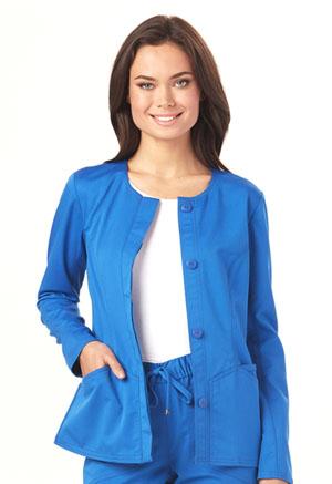 """HeartSoul HeartSoul Head Over Heels Women's """"Warm My Heart"""" Button Front Jacket Blue"""