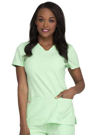 Break on Through Shaped V-Neck Top (20710-GOGN) (20710-GOGN)