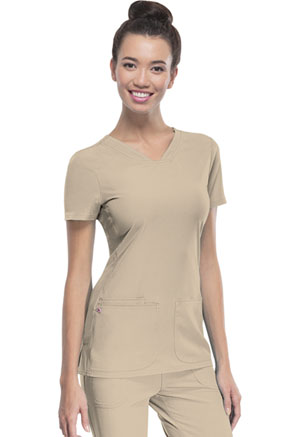 HeartSoul Shaped V-Neck Top Dark Khaki (20710-KHAH)