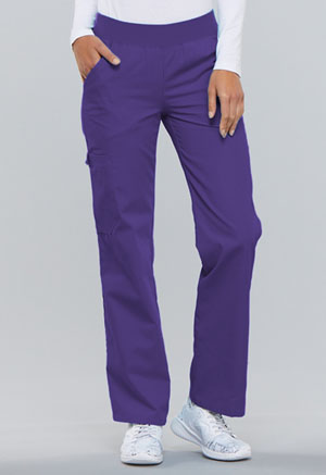 Cherokee Mid Rise Knit Waist Pull-On Pant Grape (2085-GRPB)