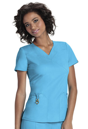 "HeartSoul HeartSoul Head Over Heels Women's ""Wrapped Up"" V-Neck Top Blue"