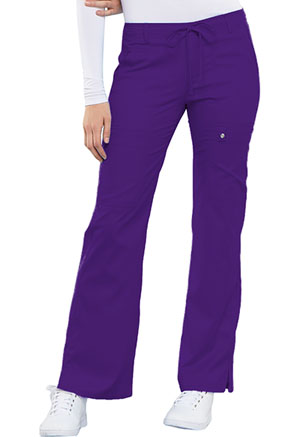 Cherokee Low Rise Flare Leg Drawstring Cargo Pant Nu-Grape (21100-GRPV)