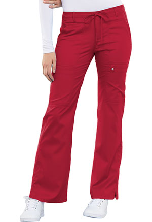 Luxe Low Rise Flare Leg Drawstring Cargo Pant (21100-REDV) (21100-REDV)