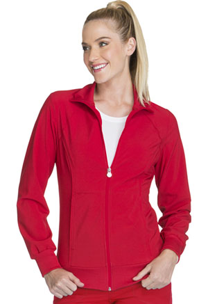 Cherokee Zip Front Warm-Up Jacket Red (2391A-RED)
