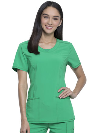 Cherokee Round Neck Top Bright Green (2624A-BTGE)