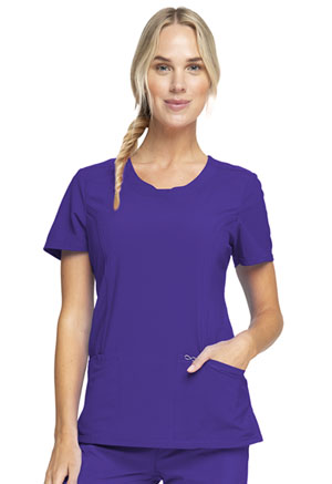 Cherokee Round Neck Top Grape (2624A-GRP)