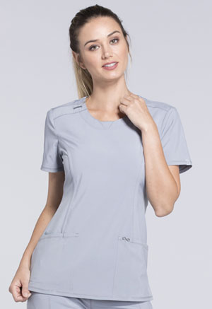 Cherokee Round Neck Top Grey (2624A-GRY)