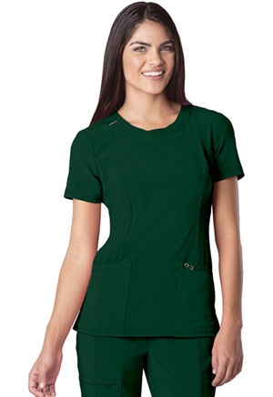 Cherokee Round Neck Top Hunter Green (2624A-HNPS)