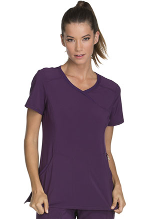 Cherokee Mock Wrap Top Eggplant (2625A-EGG)