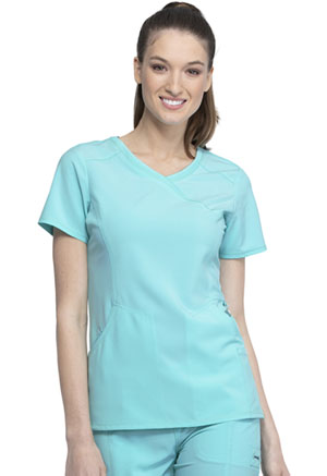 Cherokee Mock Wrap Top Sea Salt (2625A-STAL)