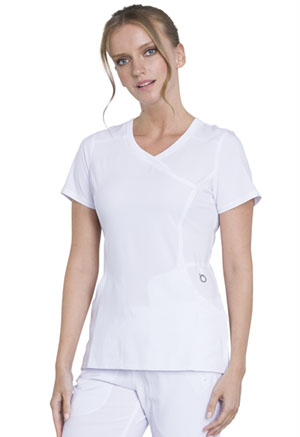 Cherokee Mock Wrap Top White (2625A-WTPS)