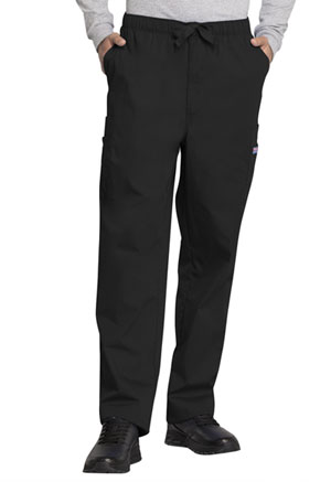Cherokee Workwear Men's Drawstring Cargo Pant Black (4000-BLKW)