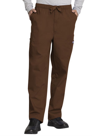 Cherokee Workwear Men's Fly Front Cargo Pant Chocolate (4000-CHCW)