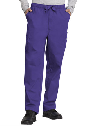 Cherokee Workwear Men's Drawstring Cargo Pant Grape (4000-GRPW)