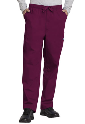 Cherokee Workwear Men's Drawstring Cargo Pant Wine (4000-WINW)