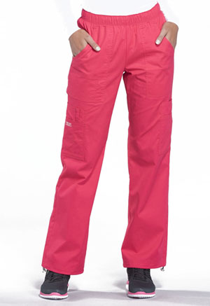1484466c125 Cherokee Workwear Mid Rise Pull-On Pant Cargo Pant Fruit Punch 4005-FTP