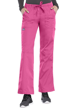 Cherokee Workwear Low Rise Drawstring Cargo Pant Shocking Pink (4020-SHPW)