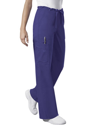 Cherokee Workwear Unisex Drawstring Cargo Pant Grape (4043-GRPW)