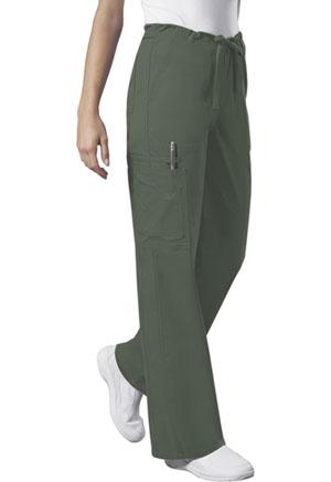 Cherokee Workwear WW Core Stretch Unisex Unisex Drawstring Cargo Pant Green