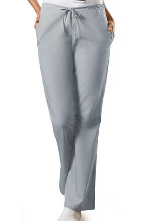 Cherokee Workwear WW Originals Women's Natural Rise Flare Leg Drawstring Pant Gray