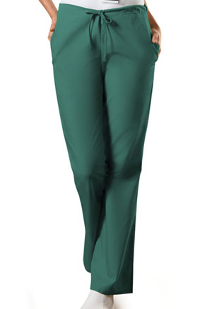 Cherokee Workwear Natural Rise Flare Leg Drawstring Pant Hunter (4101-HUNW)
