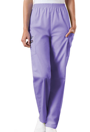 Cherokee Workwear Natural Rise Tapered Pull-On Cargo Pant Orchid (4200T-ORCW)