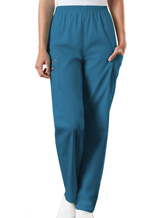 Cherokee Workwear Natural Rise Tapered Pull-On Cargo Pant Caribbean Blue (4200-CARW)