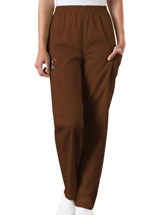 Cherokee Workwear Natural Rise Tapered Pull-On Cargo Pant Chocolate (4200-CHCW)