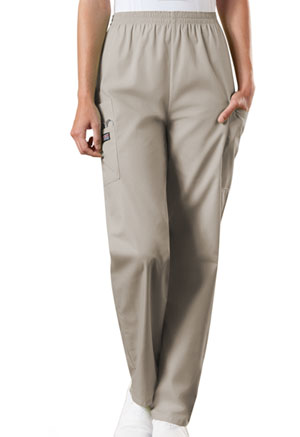 Cherokee Workwear Natural Rise Tapered Pull-On Cargo Pant Khaki (4200-KAKW)