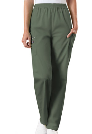 ba89730ce06 Cherokee Workwear Natural Rise Tapered Pull-On Cargo Pant Olive 4200-OLVW