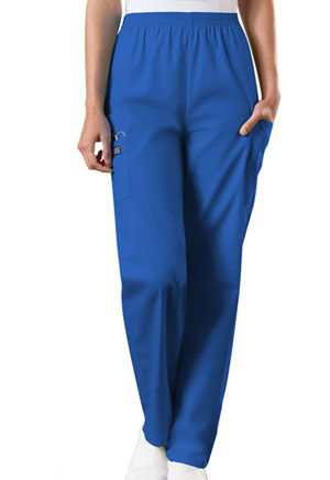 Cherokee Workwear WW Originals Women's Natural Rise Tapered Pull-On Cargo Pant Blue