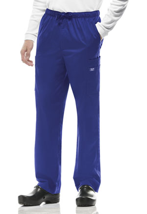 Cherokee Workwear Men's Drawstring Cargo Pant Galaxy Blue (4243-GABW)