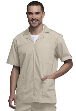 Cherokee Workwear Men's Zip Front Jacket Khaki (4300-KAKW)
