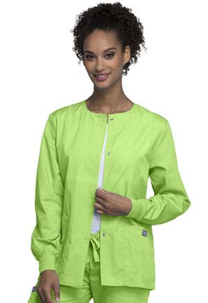 Cherokee Workwear WW Originals Women's Snap Front Warm-Up Jacket Green