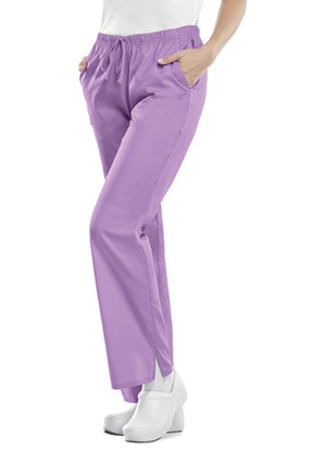 Cherokee Workwear Mid Rise Moderate Flare Drawstring Pant Vibrant Orchid (44101A-VBOW)