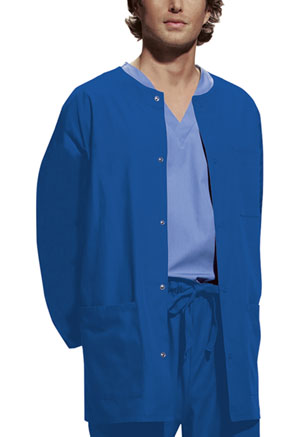 Cherokee Workwear Men's Snap Front Warm-Up Jacket Royal (4450-ROYW)