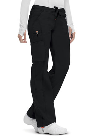 Code Happy Bliss Low Rise Straight Leg Drawstring Pant in Black (46000A - BXCH)