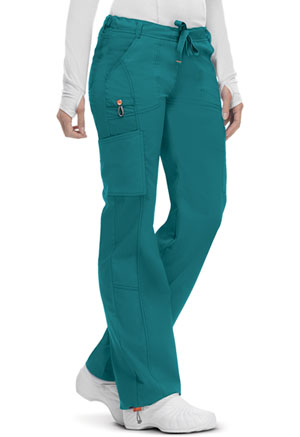 Code Happy Bliss Low Rise Straight Leg Drawstring Pant in Teal (46000A - TLCH)